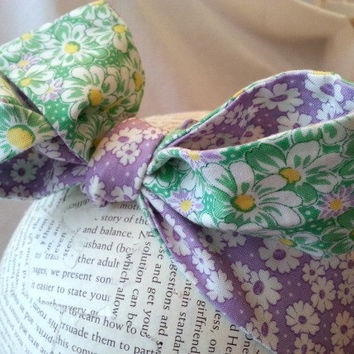 Baby head wrap - toddler headwrap - retro headwrap - big bow headwrap - rockabilly baby - bandana headwrap - tie headband - lavender green