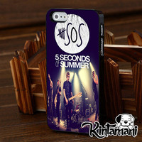 5SOS Live Concert Only For iPhone 4 4s 5 5s 5c iPod Touch 2 4 5 Samsung Galaxy s3 i9300 s4 i9500 s5 i9600 Black White