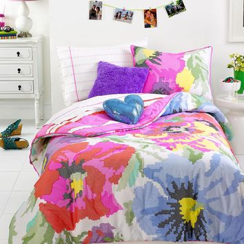 Teen Vogue Bedding, Neon Needlepoint Comforter Sets - Teen Bedding - Bed & Bath - Macy's