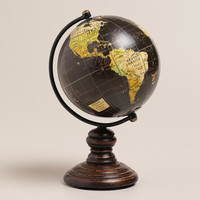 Mini Black Globe on Stand - World Market