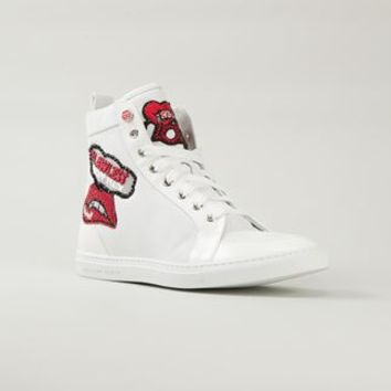 Philipp Plein 'sexy Red Lips' Sneakers - Spinnaker 141 - Farfetch.com