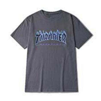 THRASHER hot sale print flame Thrasher Magazine Flame T-shirt
