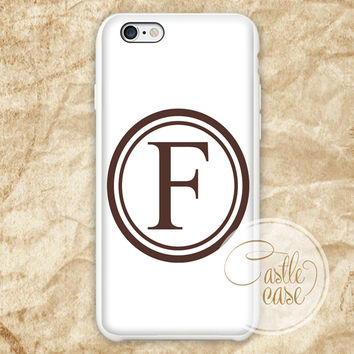 Monogrammed Burlap iPhone 4/4S, 5/5S, 5C Series Hard Plastic Case