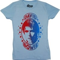 David Bowie Space Oddity Juniors Shirt |Vintage Classic Rock T-Shirt