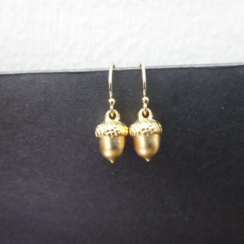 Tiny Acorn Earrings Minimalist S Small Earr