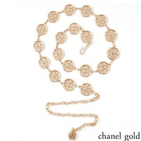 Chanel Metal Waist Chain Dress with Accessories gold