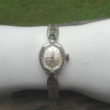 1950s Vintage Wittnaeur Geneve Lady's Watch, 10K RGP Bezel, 10K Gold Plate Catch, USA, Unsure Working, Swiss Movement, Vintage Watch Jewelry