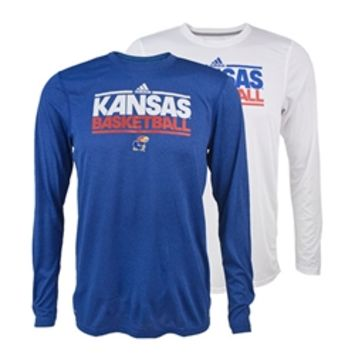 KU Bookstore - Kansas Basketball On Court Climalite Youth T-Shirt 2014