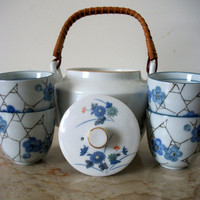 Floral Ceramic Six Piece Tea Service