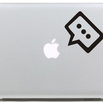 Dialog Box Speaking for Apple Logo Vinyl Sticker for Macbook Skin Air 11 13 Pro 13 15 17 Retina Laptop Computer Creative Decal