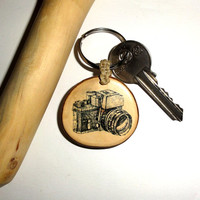 Keychain The best camera is the one you have with you. Natural wood keychains. Handmade keychain. Keychain, keyring, keychains keyrings.