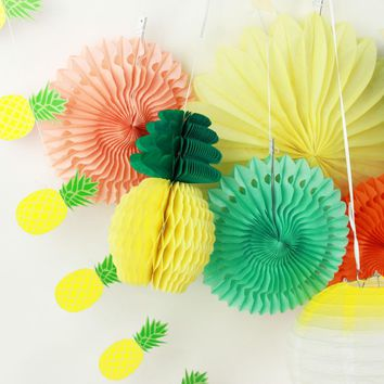 Summer  Party  Decoration    Lantern  Paper    Pineapples