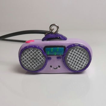 Kawaii Clay Charm Boombox Necklace Clay Radio Kawaii Polymer Clay Necklace 18 inch with extender chain FREE SHIPPING