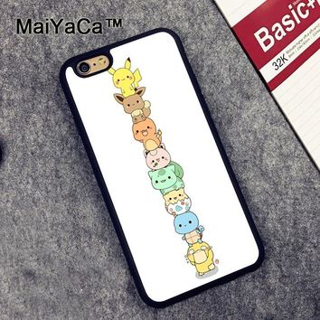 MaiYaCa cute s Newest Soft TPU Phone Cases For Apple iphone 6 Case 4.7'' Fashion Case For iphone 6S 6 CoverKawaii Pokemon go  AT_89_9