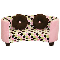Komfy Kings, Inc 39045 Newco Kids Comfy Pink with Chocolate Dots Chair Sofa