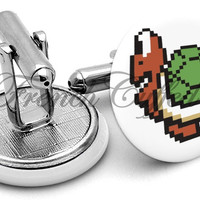 Koopa Troopa 8-Bit Cufflinks