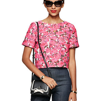 Kate Spade Rose Brocade Lummi Top Pink Multi