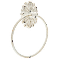 White Floral Plate Metal Towel Ring | Hobby Lobby | 1478304