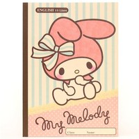 My Melody rabbit stripes dots notebook exercise book - Memo Pads - Stationery