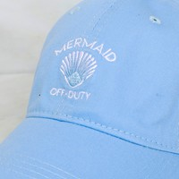 Mermaid Off Duty Dad Cap