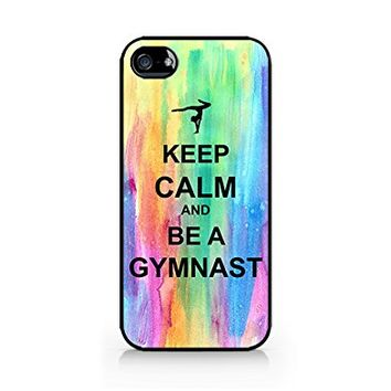 Keep Calm and Be A Gymnast - Keep Calm - Watercolor - Colorful - iPhone 5/5S Black Case (C) Andre Gift Shop
