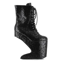 Ellie Shoes E-BP579-Chablis 5 Heel Platform Ankle Boot