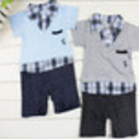 Freeship Baby Boy KID Formal Suit Romper Pants 0-18M One-piece Jumpsuit Clothes set - Default