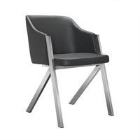 Modrest Darcy Modern Grey Leatherette Dining Chair (set of 2)