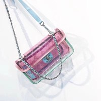 Chanel PVC Transparent One-shoulder Satchel