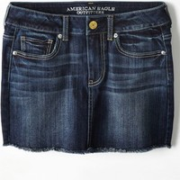 AEO Women's Denim Mini Skirt (Dark Wash)