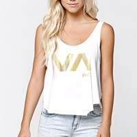 RVCA Blade Scoop Tank Top - Womens Tee - White