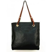 Designer Inspired Gina Tote - Ostrich Finish - Colors Available