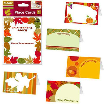 8 pack Thanksgiving Place Card Holders