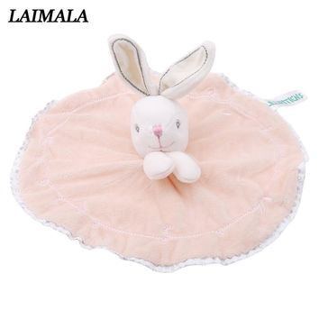Newborn Baby Bunny Soothing Towel Girls Boys Comfort Toys Infant Gift Soft Security Blanket Sleep Friend Rabbit Doll Plush Toys