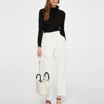 Pleat detail trousers - Women | MANGO USA