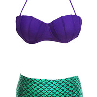 Little Mermaid Ariel Costume Bikini LAVELIQ