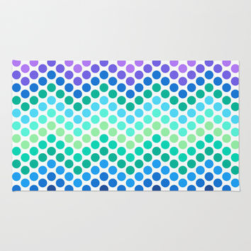 Dot Chevron: Blue Purple Area & Throw Rug by Eileen Paulino