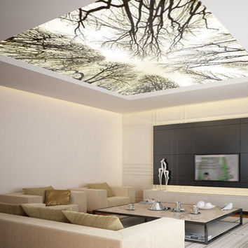Ceiling STICKER MURAL sky trees forest airly air decole poster