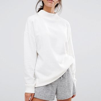New Look High Neck Ribbed Sweatshirt