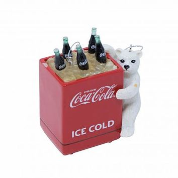 Authentic Coca-Cola Coke Bear Cub Cooler Christmas Ornament New with Tags