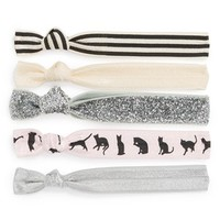 Kitsch 'The Cat's Meow' Hair Ties (5-Pack) (Girls)