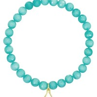 Wishbone Jade Beaded Bracelet