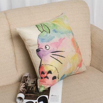 Cotton Linen Cats Cushion [6283498822]
