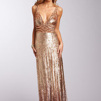 ideeli | BASIX Long All Over Sequin Dress