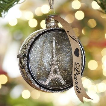 Paris Orb Glass Ornament | Pottery Barn