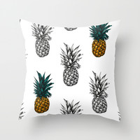 Pineapple Throw Pillow by Eloise Roberts