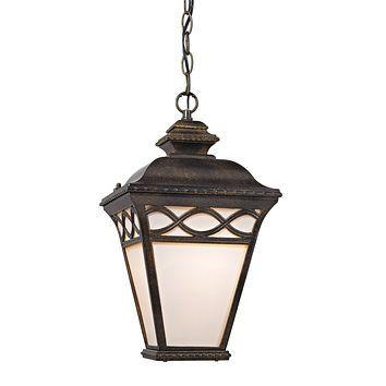 Mendham 1 Light Outdoor Pendant Lantern In Hazelnut Bronze