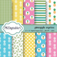 "Pineapple Digital Paper - ""Pineapple Express""  patterns backgrounds, projects, design, scrapbooking"