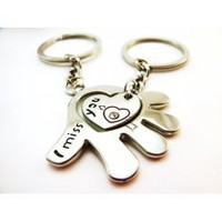Palm & Heart Couple Key Chains