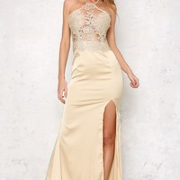 All About Me Maxi Dress Gold